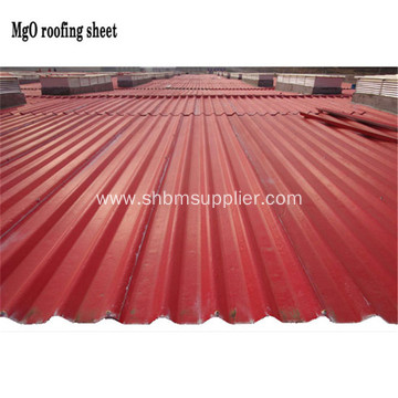 Harmless Anti-corrosion Heat-resistant MgO Roofing Sheets